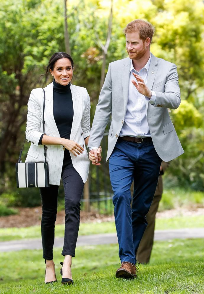 Meghan Markle thrashes her tried and trusty Outland Denim jeans.