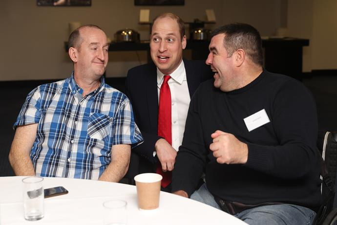 Prince William shared some candid anecdotes with game-goers at Cardiff Stadium.