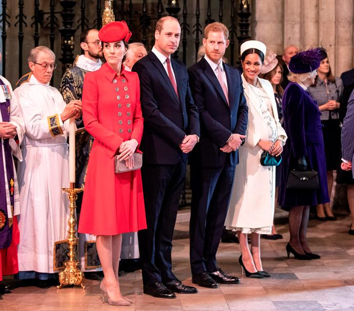 In 2019, the Duke and Duchess of Sussex attended the Commonwealth Day Service alongside the Duke and Duchess of Cambridge.