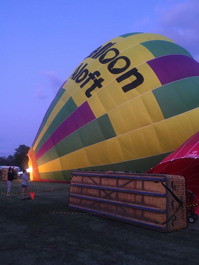 There's something pretty special about watching the balloons inflate.