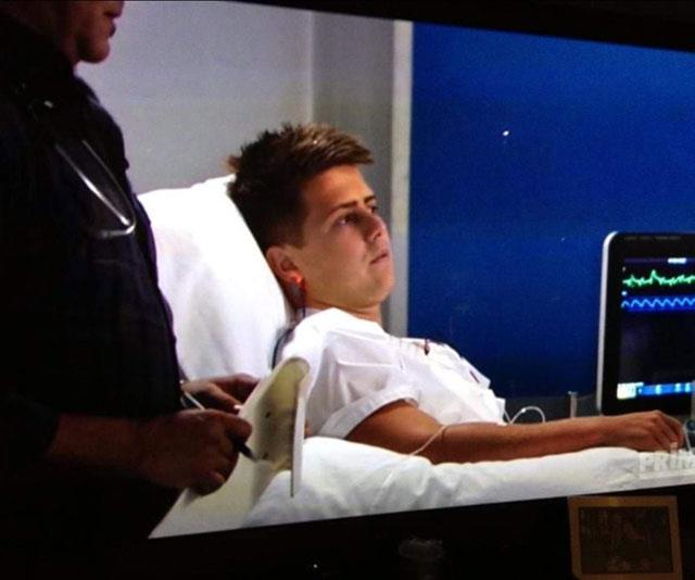 Mikey pictured on *Home and Away.*