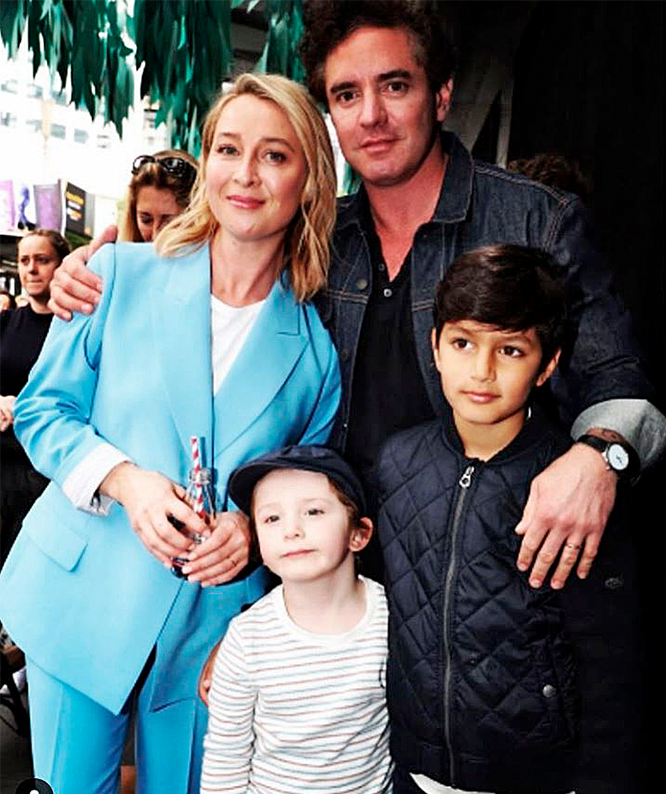 Asher with Vincent and sons Luca (right) and Valentino.