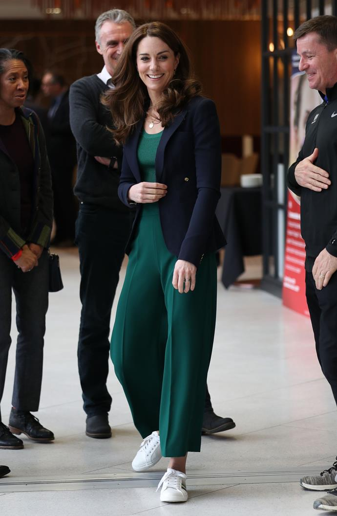 Kate rocked up to London Stadium looking chic as ever - but she had a surprise in store...