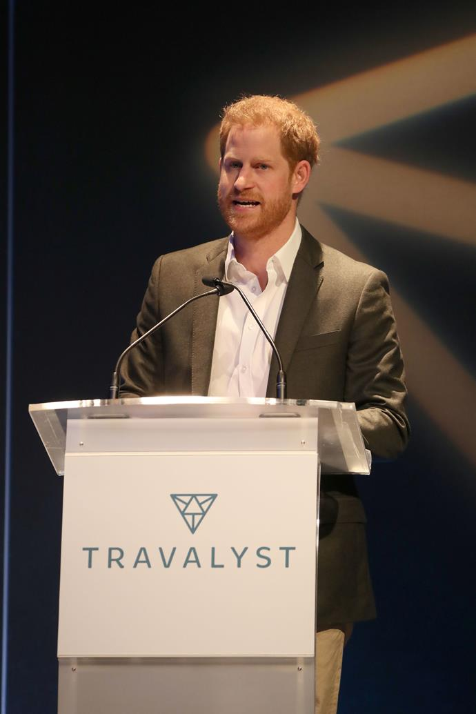 Prince Harry had a surprise announcement as he stepped out for the first time since returning to the UK.