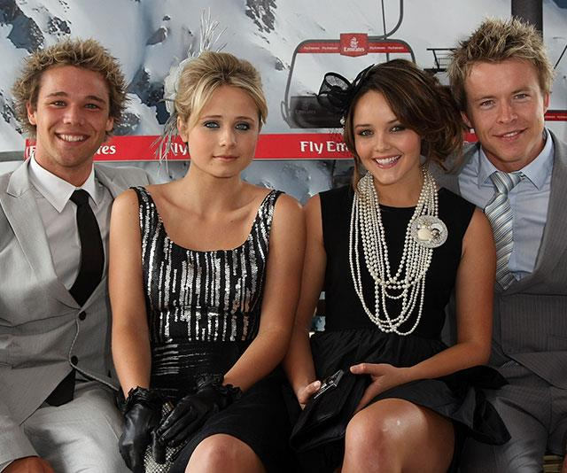 Bec with her former *Home And Away* co-stars Lincoln Lewis, Tessa James and Todd Lasance.