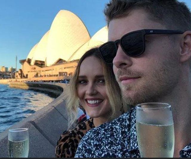 Lovebirds Bec and Luke in Sydney.