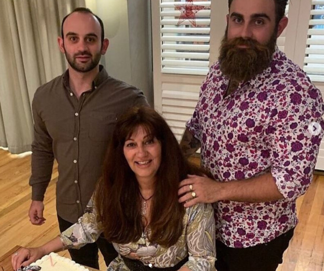 Faye has the support of her sons after the death of her partner Tony