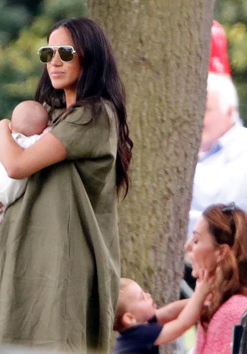 "While the four weren't photographed together, we certainly got a great glimpse of both Kate and Meghan supporting their husbands (and having plenty of fun with their children) at [a polo match](https://www.nowtolove.com.au/royals/british-royal-family/meghan-markle-kate-middleton-polo-56971|target=""_blank"") in July 2019. And while the Fab Four remain iconic, this moment with little Prince Louis caught on camera is straight-up meme worthy."