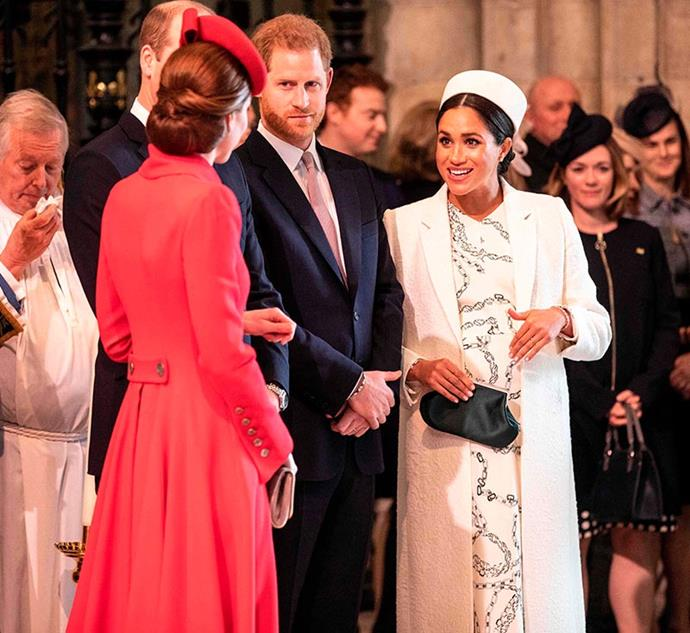 Not long after, a heavily pregnant Meghan joined her three royal counterparts at the annual Commonwealth Day service - one of the last times we saw them united before the birth of baby Archie.