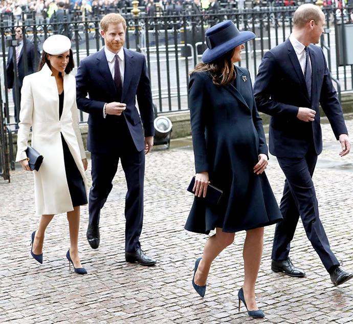"In March, the Fab Four [stepped out together on Commonwealth Day](https://www.nowtolove.com.au/royals/british-royal-family/meghan-markle-duchess-kate-twin-for-commonwealth-day-45700|target=""_blank""). An apt event to show off their united front."
