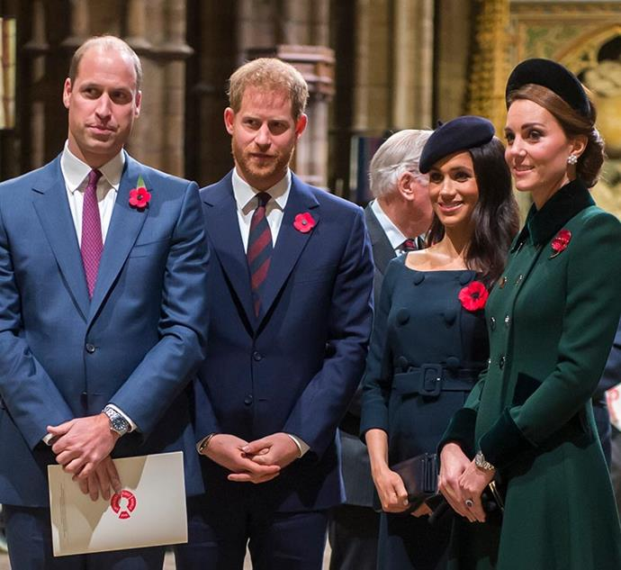 November 2018 brought the annual Armistice services - always a big event on the royal calendar. The two couples were all smiles for the cameras.