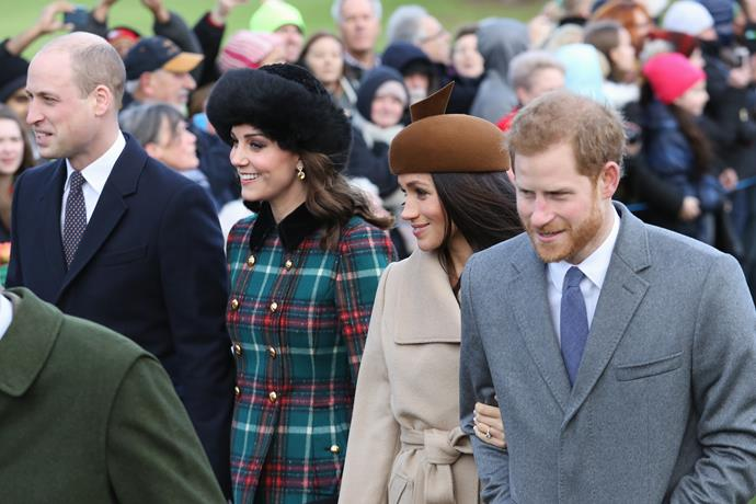 In December 2017, the Monarchy took a giant leap forward in what was to become an iconic chapter. Shortly after the engagement of Harry and Meghan was announced, the pair joined Prince William and Duchess Catherine for the annual Christmas Day service at Sandringham.