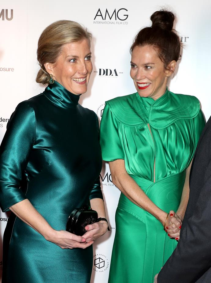 She's a red carpet pro! Sophie joined actress Anna Friel at the glitzy event.