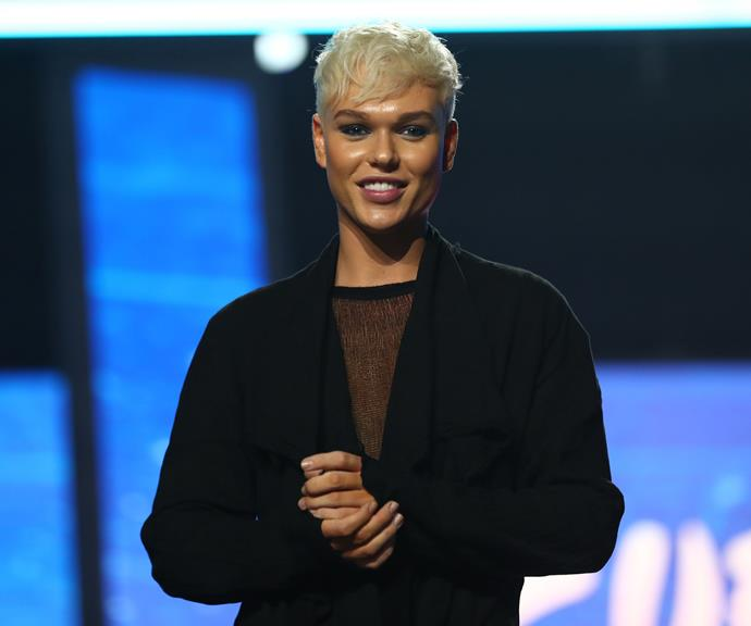 Jack Vidgen at a media call for Eurovision 2020.