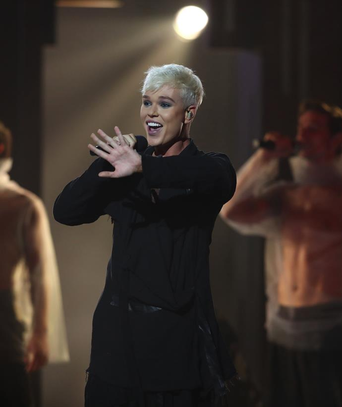 """Jack Vidgen performing in the Gold Coast earlier this year for his chance to represent Australia in [Eurovision 2020](https://www.nowtolove.com.au/celebrity/celeb-news/eurovision-australia-decides-2020-contestants-61866