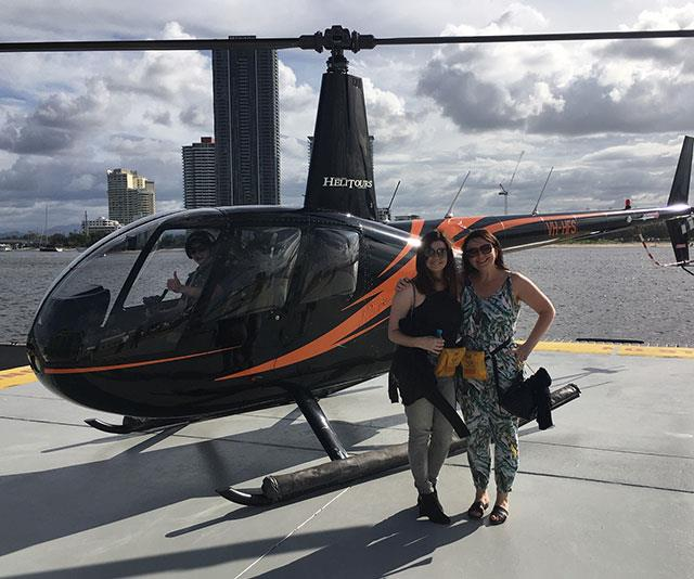 Helicopter rides are a staple on *The Bachelor.*