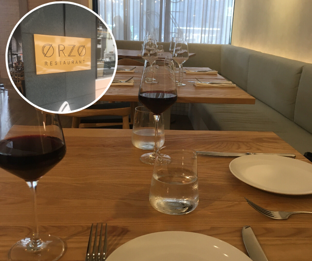 Orzo in Broadbeach is ideal for an intimate date night.