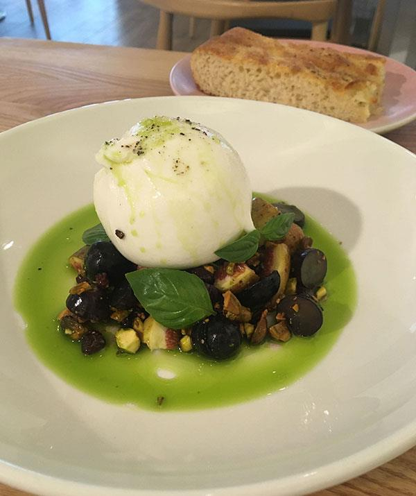 The burrata was mouth-watering.