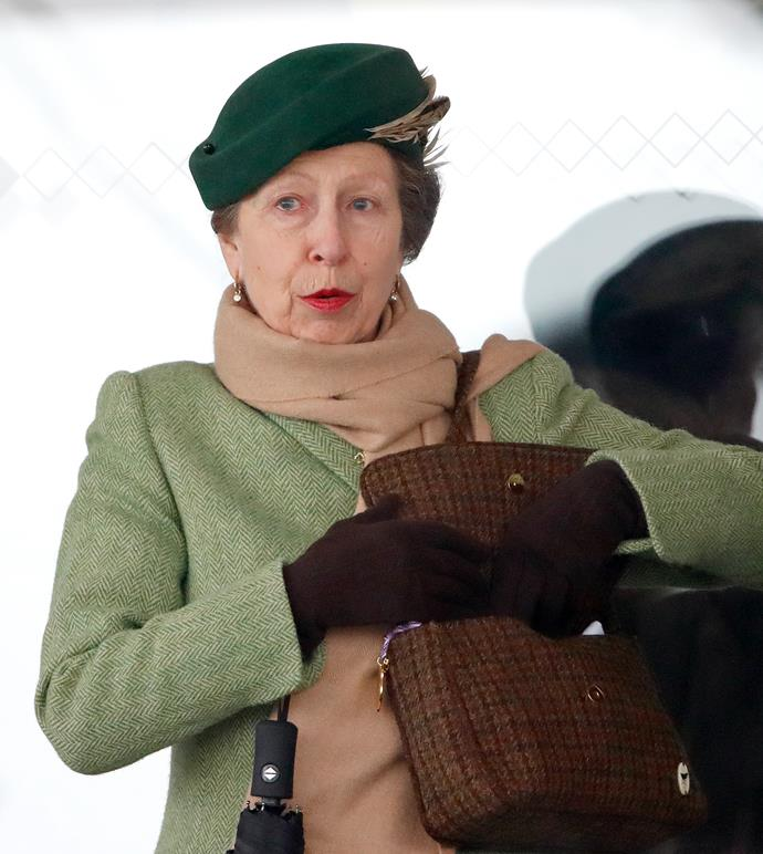 Princess Anne was spotted on a London tube as she made her way to a London Fashion Week event.