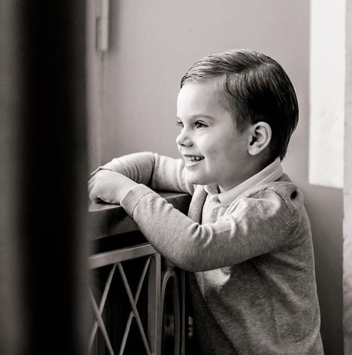 Prince Oscar just celebrated his fourth birthday.