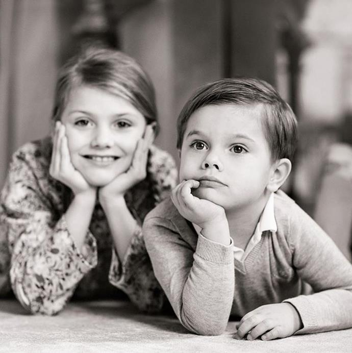 He and big sister Princess Estelle are growing up far too quickly!