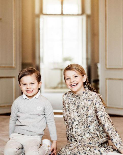The Swedish royals also shared a beautiful image of the siblings for Princess Estelle's birthday last week.