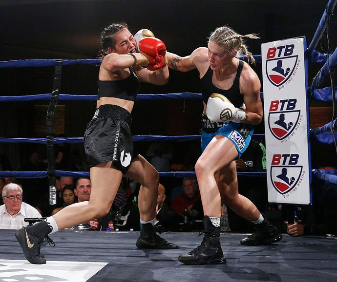 Tayla has also had a successful boxing career, with six wins and one draw.