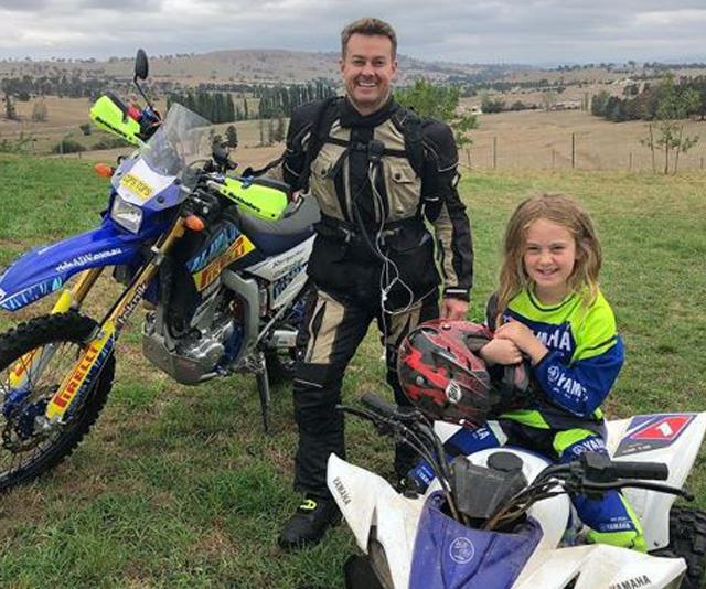 Grant and daughter Sailor, eight, spend a lot of time on the family farm.