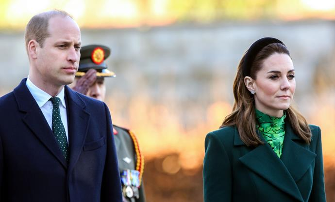 Kate and Wills paid their respects at the Garden of Remembrance.