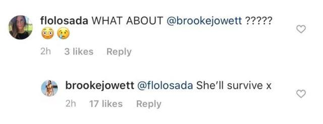 Brooke's brave response to a fan who asked about her and Locky.