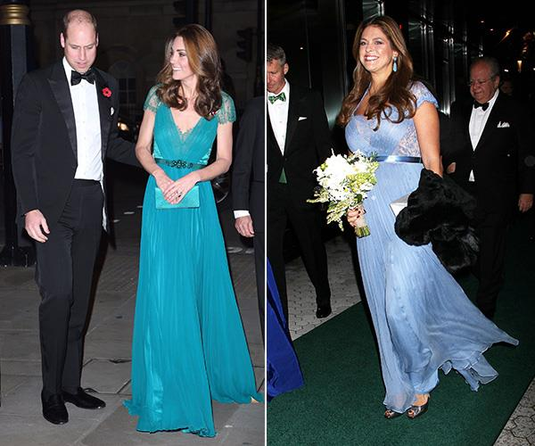 Duchess Catherine's Jenny Packham gown is a personal favourite of ours, but did you know Princess Madeleine of Sweden wore the same gown in light blue for the 2013 New York Green Summit?