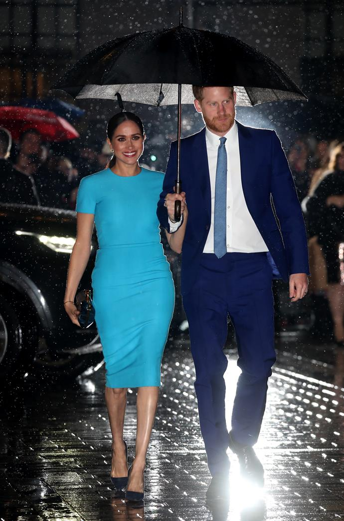 Harry and Meghan stepped out together for the first time since their shock announcement was made back in January.
