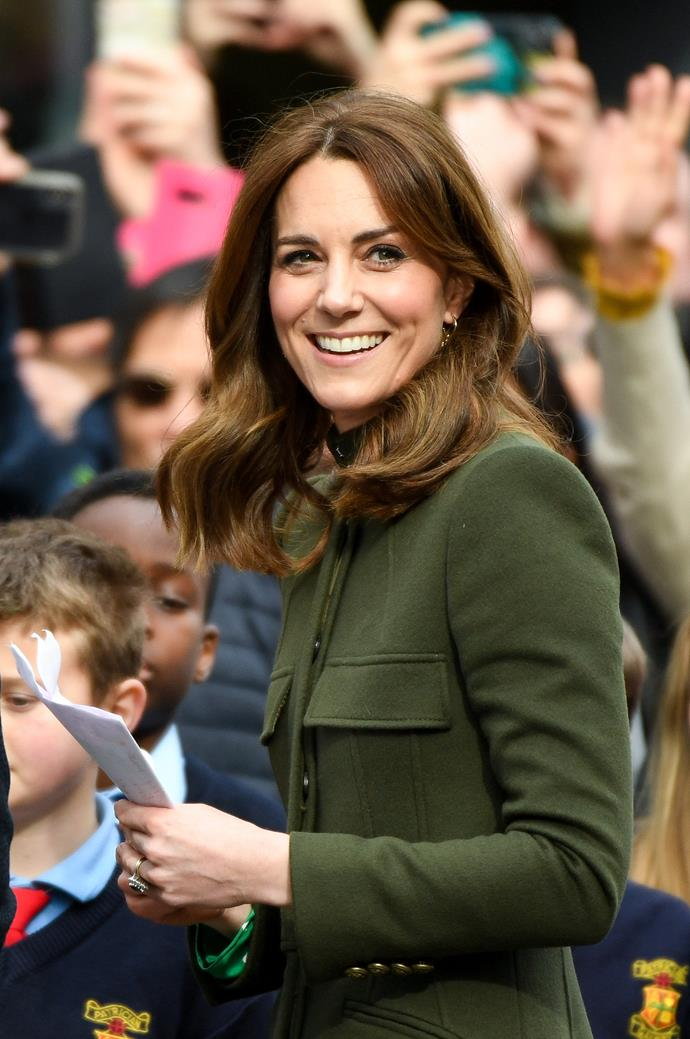 "The royal was positively glowing as she and Wills attended [a public walkabout](https://www.nowtolove.com.au/fashion/fashion-trends/royals-wearing-same-outfit-62912|target=""_blank""), which brought out masses of Irish fans."