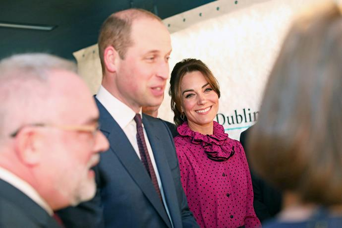 That evening, the Duke and Duchess attended a reception in Dublin - and while their sweet anecdotes and wide grins gave us plenty to smile about, it was Kate's *dress* that we couldn't stop looking at.