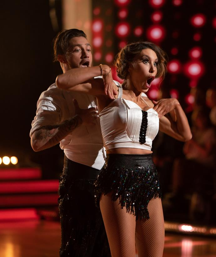Chloe Lattanzi and her dance partner Gustavo Viglio perform The Charleston on *Dancing With The Stars.*