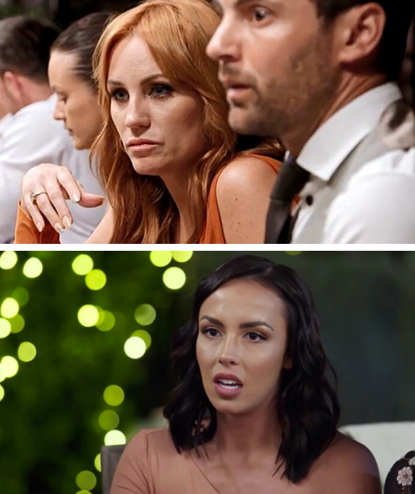 The usually demure former MAFS star (above) slammed Natasha (below) at an event recently.