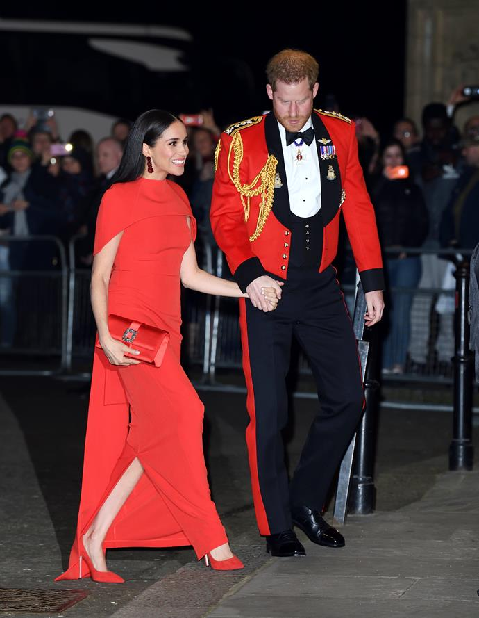 Meghan turned every head in the house as she and Harry made their grand entrance.