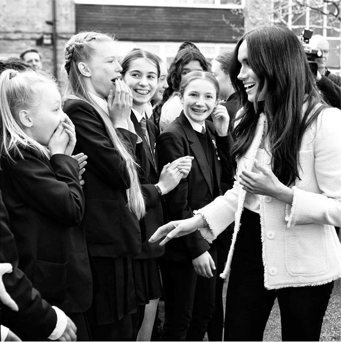 Sussex Royal shared a selection of photos and videos from the Duchess's visit to Dagenham.