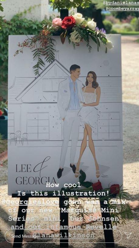 The boutique shared a second snap detailing the design of Georgia's engagement dress. Perhaps a sign of things to come!