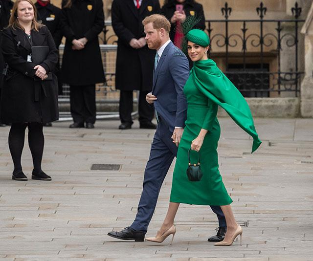 Caped crusader: Many fans thinks Duchess Meghan's emerald green dress makes her look like a superhero!