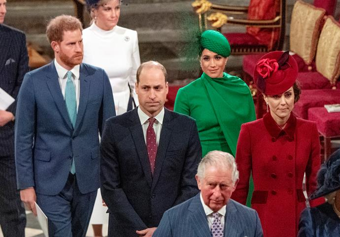 "Stepping out for [Commonwealth Day on March 9, 2020](https://www.nowtolove.com.au/royals/british-royal-family/kate-middleton-meghan-markle-commonwealth-day-2020-62977|target=""_blank""), the royal Fab Four made a final, showstopping joint appearance - likely to be the last before Harry and Meghan formally step back from their roles on March 31."
