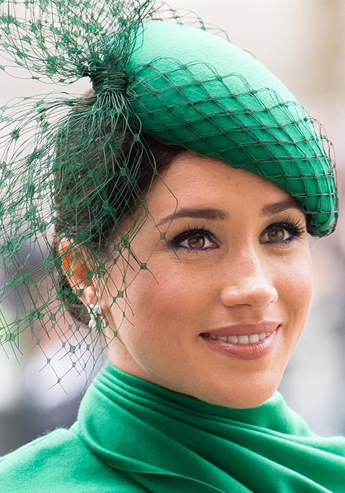 Opting for a demure, smokey eye makeup look, Meghan was every bit the picture-perfect royal.
