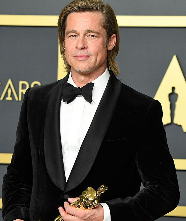 """In his Oscars acceptance speech, Brad paid tribute to his kids, saying they """"colour everything I do."""""""