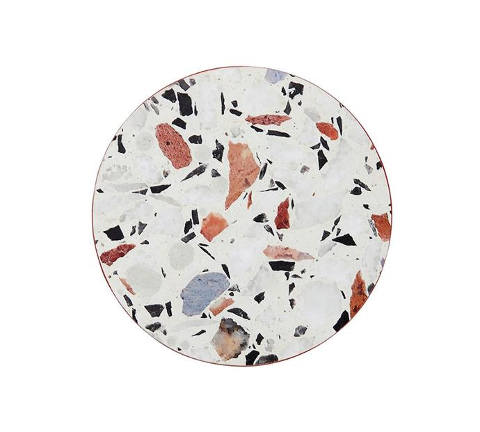 "**Ladelle Terrazzo Hardboard 4pk Coaster, $19.95 at [MYER](https://www.myer.com.au/p/ladelle-terrazzo-hardboard-4pk-coaster|target=""_blank""