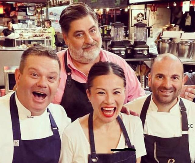 Poh pictured with former judge Gary Mehigan, Matt Preston and George Calombaris.