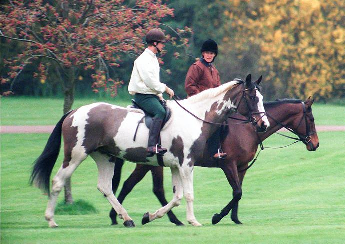 The couple were snapped horse riding in Windsor ahead of their wedding.