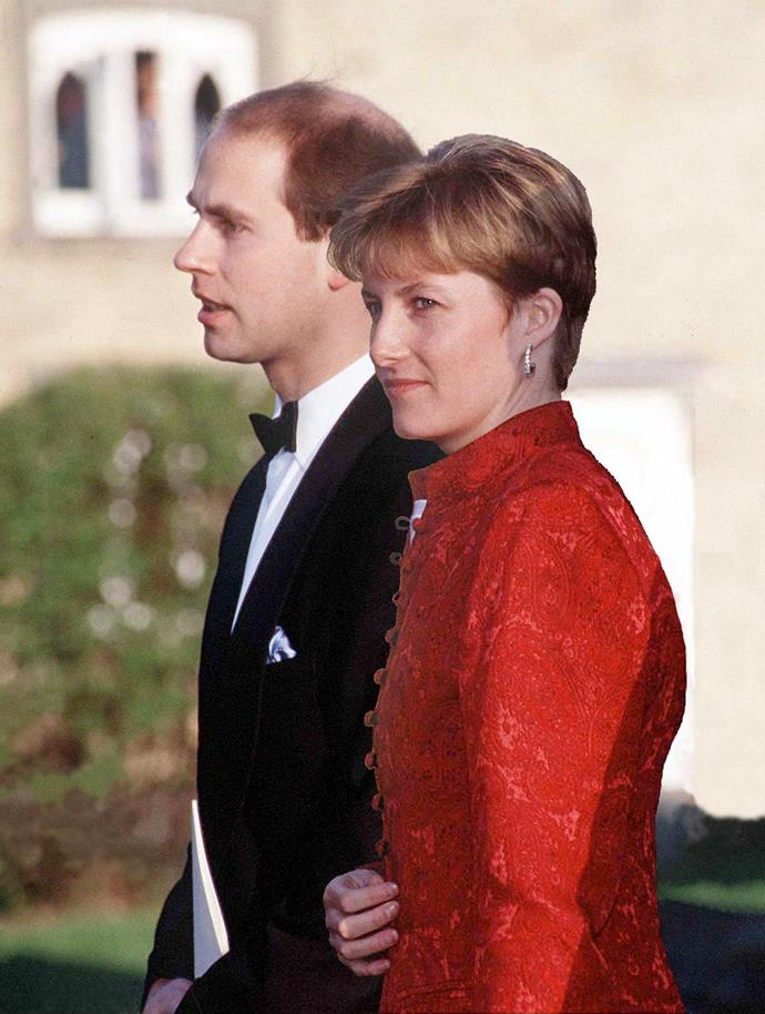 Royal fans suspected things were serious between Prince Edward and his then-girlfriend Sophie when she began to attend numerous weddings with him.