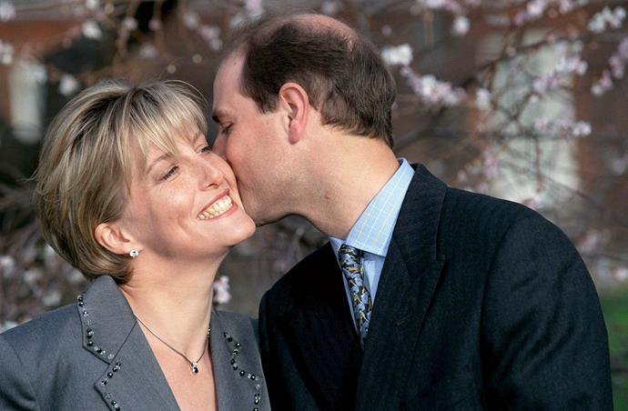 And whilst the royals don't tend to pack on the PDA, the groom-to-be planted a sweet kiss on Sophie's cheek.