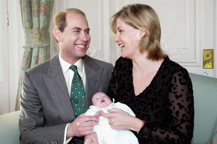And Lady Louise makes three! Following the birth of their daughter, this sweet snap of the new parents was released - and Prince Andrew was behind the camera.