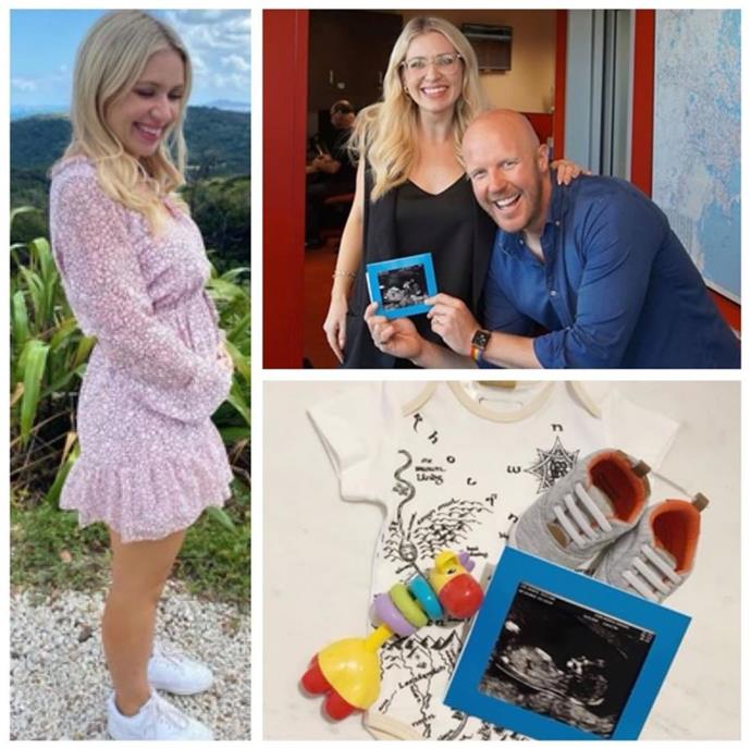 Nova newsreader Matt de Groot and wife Brontë Coy are expecting a baby boy in September.
